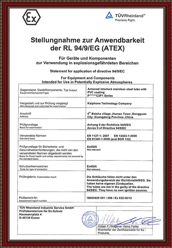 ATEX Certificado
