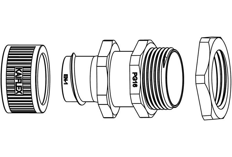 Unión de manguera flexible metálica de protección eléctrica – EU (aplicación de bajo riesgo de incendio) – EZ05 Series (EU)
