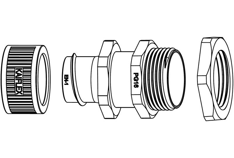 Unión de manguera flexible metálica de protección eléctrica  Aplicación de anti-interferencia electromagnética - BEZ05 Series (EU)