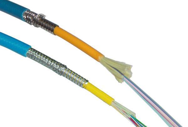 Cable óptico blindado para minas
