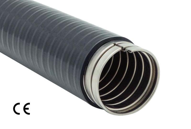 Aplicación de Impermeabilidad de Manguera Flexible Metálica de Protección Eléctrica - PAS23PVC Series